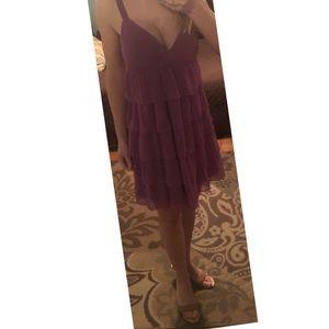 Old Navy fun & flirty tiered ruffle purple dress